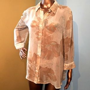 💚 Sheer Flowing Tunic Shirt